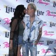 Madison Parker et son petit ami Aaron Carter à la fête Flamingo GO Pool à Las Vegas, le 15 avril 2017 © Mjt/AdMedia via Zuma/Bestimage