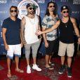 Le groupe Backstreet Boys (Nick Carter, Kevin Richardson, Brian Littrell, A. J. McLean, Howie Dorough) au Drais Beachclub à l'hôtel & Casino Cromwell à Las Vegas, le 2 juillet 2017