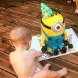 Noëmie Honiat (Top Chef) fête les 1 ans de son fils sur Facebook. Juillet 2017.
