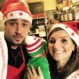 Noémie Honiat et Quentin Bourdy ( Top Chef  saison 4, en 2013) avec leur bébé Zacharie. Décembre 2016.