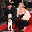 Adam Levine avec sa femme Behati Prinsloo et sa fille Dusty Rose Levine - Adam Levine inaugure son étoile sur le Walk of Fame à Hollywood, le 10 février 2017 © Chris Delmas/Bestimage