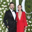 Jason Sudeikis, et sa fiancée Olivia Wilde lors de la 71ème cérémonie annuelle des Tony Awards 2017 au Radio City Music Hall à New York, le 11 juin 2017.