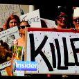 Vague de protestation contre le dentiste Walter Palmer, qui est accusé d'avoir tué Cecil le Lion. Photo par Dennis Van Tine/ABACAPRESS.COM le 3 août 2015