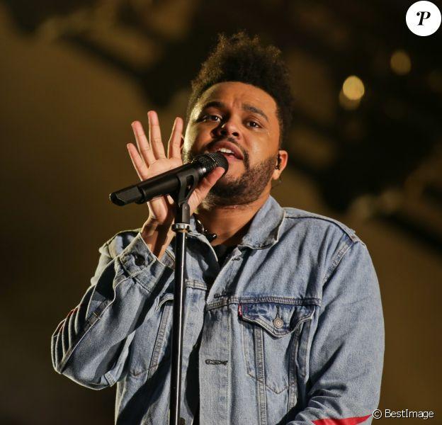 The Weeknd en concert au 1er festival Lollapalooza à l'Hippodrome de Longchamp à Paris le 21 juillet 2017