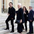 Le chanteur Bono au palais de l'Elysée à Paris, le 24 juillet 2017. © Alain Guizard/Bestimage