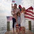Christina Aguilera, son chéri Matthew Rutler et ses enfants Max et Summer Rain - Photo publiée sur Instagram le 4 juillet 2017