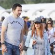 """Exclusif - Christina Aguilera, avec son fiancé Matthew Rutler et ses enfants Max Liron et Summer Rain, est allée acheter des citrouilles chez """"Mr. Bones Pumpkin Patch"""" pour les préparations d'Halloween. Le 23 octobre 2016"""