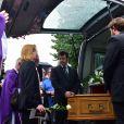 Catherine Rich, la femme de Claude Rich lors des obsèques de Claude Rich en l'église Saint-Pierre-Saint-Paul d'Orgeval à Orgeval le 26 juillet 2017.26/07/2017 - Orgeval