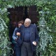Pierre Benichou lors des obsèques de Claude Rich en l'église Saint-Pierre-Saint-Paul d'Orgeval à Orgeval le 26 juillet 2017.26/07/2017 - Orgeval