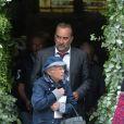 Antoine Duléry lors des obsèques de Claude Rich en l'église Saint-Pierre-Saint-Paul d'Orgeval à Orgeval le 26 juillet 2017.26/07/2017 - Orgeval