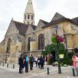 Illustration lors des obsèques de Claude Rich en l'église Saint-Pierre-Saint-Paul d'Orgeval à Orgeval le 26 juillet 2017.26/07/2017 - Orgeval