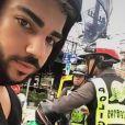 Malik, ex-compagnon de Sarah Fraisou en vacances en Thaïlande. Juillet 2017. Certains de ses agissements   suscitent   la polémique.