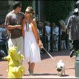 JESSICA ALBA, SON PETIT AMI ET SON CHIEN SE PROMENENT DANS LES RUES DE SANTA BARBARA  Jessica Alba and her boyfriend take a stroll in Santa Barbara.21/08/2005 - santa Barbara