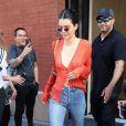 Kendall Jenner quitte un hôtel à New York, le 30 juillet 2017.