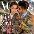 Gigi Hadid et Zayn Malik en couverture du magazine Vogue. Numéro d'août 2017.