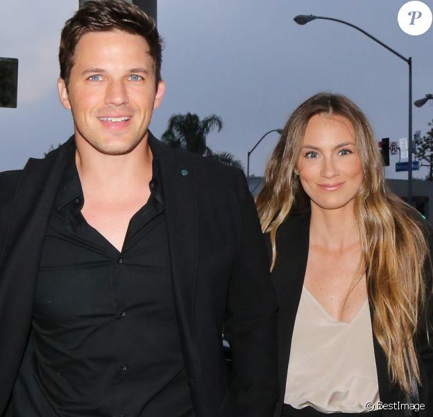 Matt Lanter et sa femme Angela arrivent au restaurant Catch LA à West Hollywood, le 5 juin 2017.
