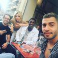 """Les acteurs de la série """"Plus belle la vie"""" (France 3) réunis lors du tournage des nouveaux épisodes."""