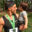 """Theo Rossi (Sons of Anarchy, Luke Cage) et son fils Kane en avril 2017, photo Instagram."""