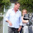 Exclusif - David Hasselhoff s'est rendu à un rendez-vous avec sa compagne Hayley Roberts au centre de cancérologie du Cedars Sinaï Hospital de Los Angeles ou il est resté plus de deux heures le 26 avril 2017.