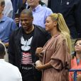 Beyoncé et son mari Jay Z à l'US Open 2016. New York, le 1er Septembre 2016.