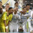 """Finale de la Supercoupe d'Espagne """"Real Madrid - FC Barcelone"""" au stade Santiago Bernabeu à Madrid, le 16 août 2017. Le Real Madrid s'est imposé 2 à 0."""