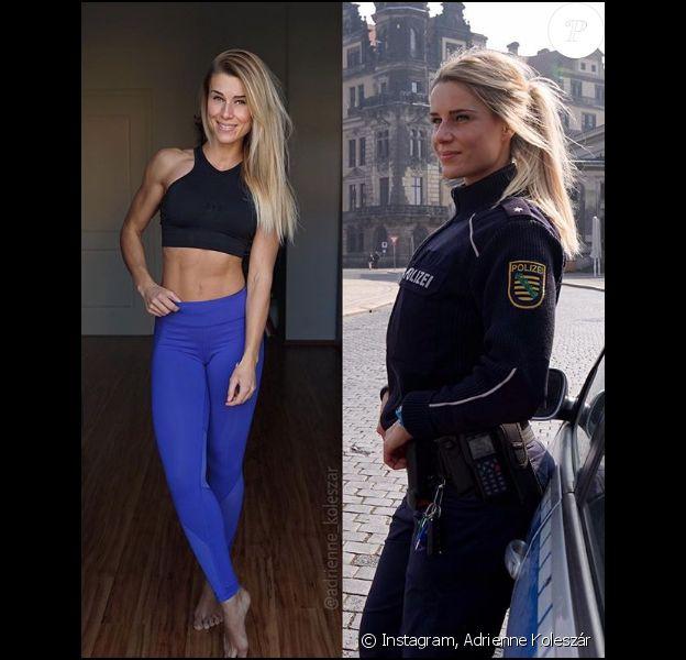 Adrienne Koleszár est policière en Allemagne. En coulisses, elle sculpte son corps et parle fitness sur Instagram.