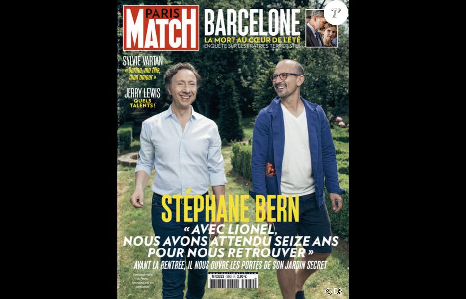 St phane bern et son compagnon lionel en couverture du magazine paris match en kiosques le 23 - Stephane bern et son compagnon ...