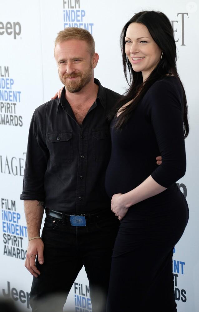 Ben Foster et sa fiancé Laura Prepon enceinte à la soirée Film Independent Spirit Awards à Santa Monica, le 25 février 2017 © Chris Delmas/Bestimage