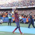 Presentation du nouveau joueur du FC Barcelone Neymar da Silva Santos Junior au camp Nou a Barcelone le 03/06/2013  03.06.2013 Barcelona, Spain. Neymar presentation as new Barcelona Player at Camp Nou03/06/2013 - Barcelone