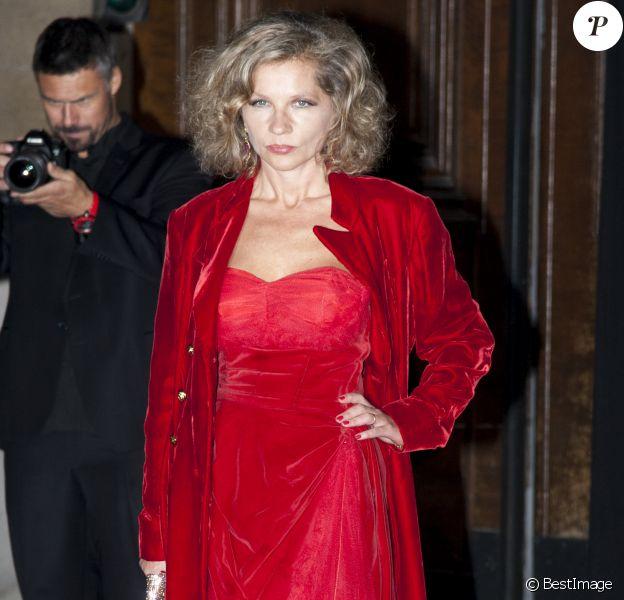 Eva Ionesco - Arrivées à la soirée des 95 ans de Vogue Paris à l'hôtel particulier Iéna à Paris, le 3 octobre 2015.