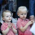 La princesse Gabriella, à gauche, et le prince Jacques durant le traditionnel pique-nique des monégasques au parc Princesse Antoinette à Monaco le 1er septembre 2017. © Olivier Huitel/Pool restreint Monaco/Bestimage