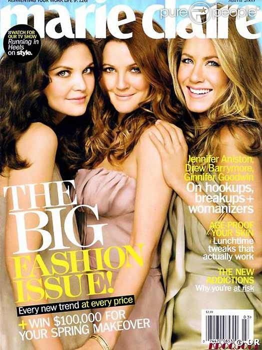 Jennifer Aniston, Ginnifer Goodwin et Drew Barrymore