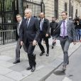 Jean-Marc Ayrault - F.Hollande arrive au QG du parti socialiste rue de Solférino à Paris après la passation de pouvoir le 14 mai 2017. © Marc Ausset-Lacroix / Bestimage