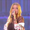 """Rita Ora dans """"Touche pas à mon poste"""", le 4 septembre 2017."""