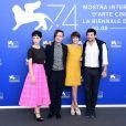 "Matilda de Angelis, Sebastiano Riso, Micaela Ramazzotti, Patrick Bruel - Photocall du film ""Una Famiglia"" lors du 74ème Festival International du Film de Venise, la Mostra. Le 4 septembre 2017"