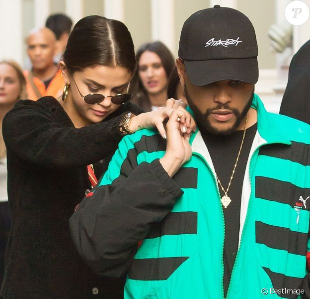 Selena Gomez et son compagnon The Weeknd sont allés faire du shopping chez Louis Vuitton dans le quartier SoHo à New York, le 3 septembre 2017