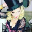 Madonna se prépare pour la soirée de son 59e anniversaire organisée dans la région des Pouilles en Italie, le 15 août 2017.