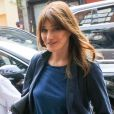 Exclusif - No Web - Carla Bruni-Sarkozy et son mari l'ancien Président Nicolas Sarkozy quittent un hôtel de New York le 14 juin 2017.