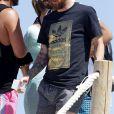 Lionel Messi - Lionel Messi en vacances sur un yacht en famille avec des amis au large de Formentera le 13 juin 2017.