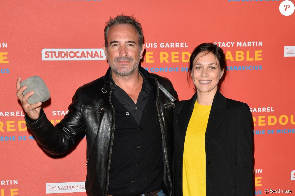 Jean dujardin et sa compagne nathalie p chalat avant for Film jean dujardin 007