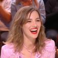 """Louise Bourgoin dans """"Quotidien"""" sur TMC le 13 septembre 2017."""