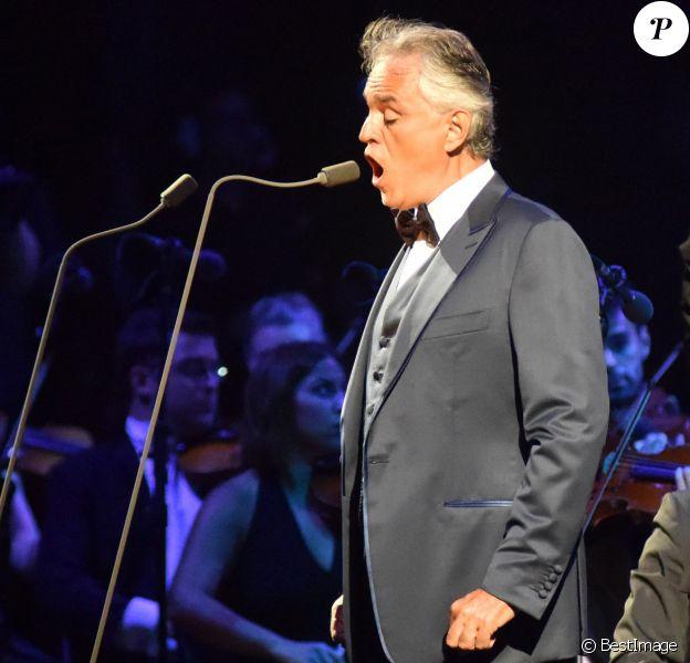 Andrea Bocelli en concert à Marbella le 27 aout 2017