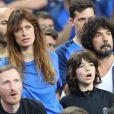 Caroline de Maigret, Yarol Poupaud et son fils Anton au match d'ouverture de l'Euro 2016, France-Roumanie au Stade de France, le 10 juin 2016. © Cyril Moreau/Bestimage