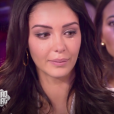 """Nabilla fond en larmes dans le """"Mad Mag"""" sur NRJ 12. Elle était très émue de retrouver Ayem Nour. Le 20 septembre 2017."""