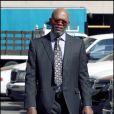 Samuel L. Jackson sur le tournage de  Mother and Child  à L.A. 14/02/09
