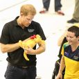 Le prince Harry rencontre les athlètes qui participeront aux Jeux Invictus de Toronto au Canada le 22 septembre 2017.  Prince Harry joined competitors at the Pan Am Sports Centre for the final training session before the start of the Invictus games 2017 toronto on september 22, 2017.22/09/2017 - Toronto
