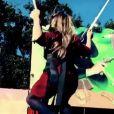 Giulia Sarkozy fait du trampoline à la Fête à Neuneu, dimanche 24 septembre 2017. Image extraite d'une vidéo filmée par Carla Bruni et postée sur son compte Instagram.