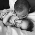 Tony Parker fête le premier anniversaire de son fils, Liam. Photo Instagram juillet 2017.