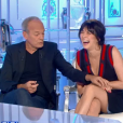 """""""Nolwenn Leroy et Laurent Baffie complices et amusés face à Michel Fugain dans """"Salut les terriens !"""" (C8), le 23 septembre 2017."""""""