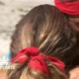 """Victoire des Rouges lors de l'épreuve de confort – """"Koh-Lanta Fidji"""" sur TF1. Le 29 septembre 2017."""